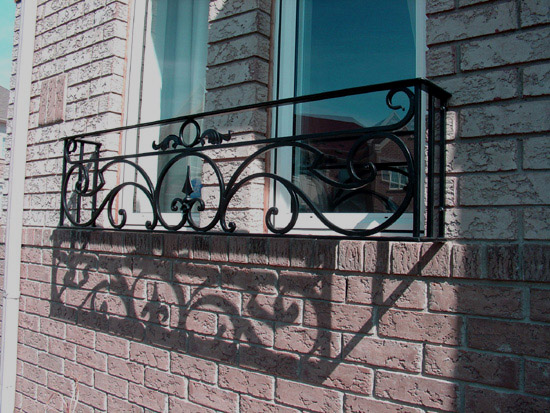wrought iron balcony