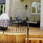 wrought iron patio railing