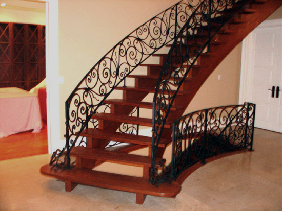 elegant wrought iron railings